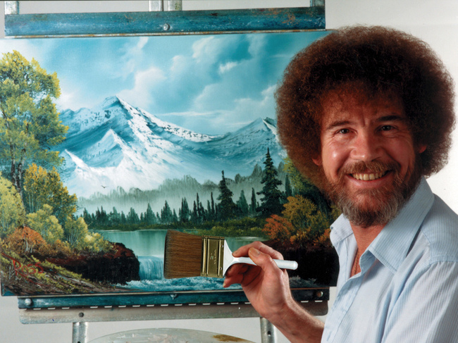 Bob Ross Painting Pretty Pictures